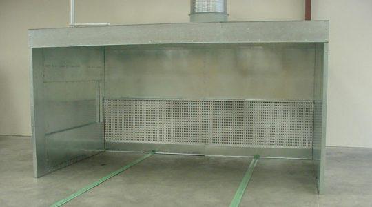 gel coat spray booth model fs149